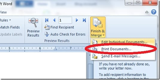 Anda-tinggal-klik-Mailings-dan-pilih-Finish-and-Merge.-Selanjutnya-Print-Documents